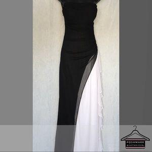 634e08aada3e DJ-Jaz Black and White Layered Sheer Dress